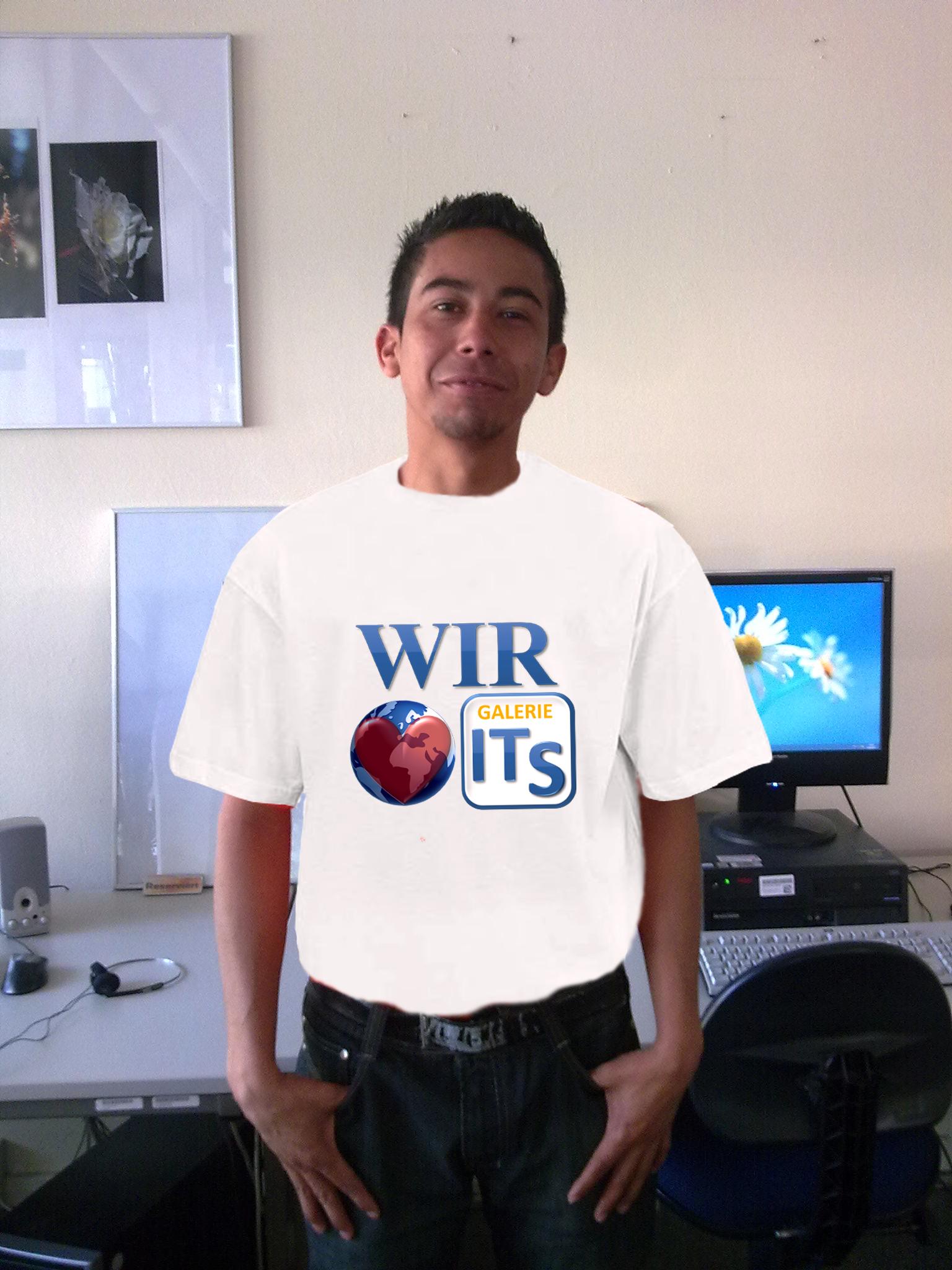 Eldo trägt das T-Shirt