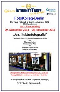 FotoKolleg-Berlin lädt ein.